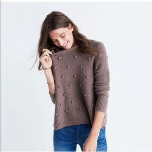 Madewell Bobble Pullover Sweater Brown Small